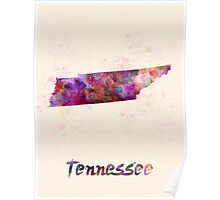 Tennessee US state in watercolor Poster