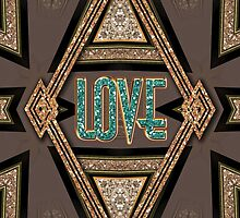 LOVE Shimmer Art Deco by webgrrl