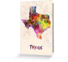 Texas US state in watercolor Greeting Card