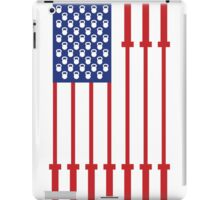 Barbell USA Flag Workout Shirt Merica iPad Case/Skin