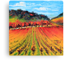 Napa Valley by Lisa Elley. Palette knife painting in oil. Canvas Print