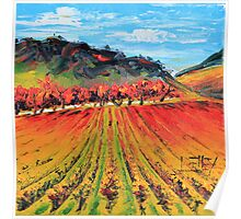 Napa Valley by Lisa Elley. Palette knife painting in oil. Poster