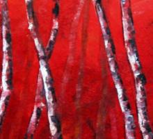 Reverie by Lisa Elley. Palette knife painting in oil Sticker