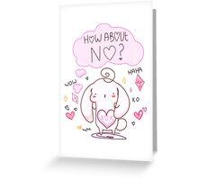 Passive Aggressive Bunny Greeting Card
