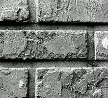 Black and White Brick Wall by kfisi