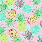 Pineapple Pandemonium Tropical Spring  by Lisa Argyropoulos
