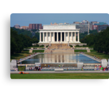 Lincoln Memorial and Reflecting Pool Canvas Print