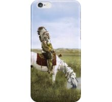 """""""An Oasis in the Badlands"""", Red Hawk, ca. 1905 iPhone Case/Skin"""