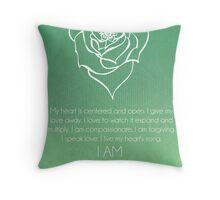 Heart Chakra Affirmation Throw Pillow