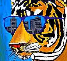 Cool Tiger in Sun Shades  by Saundra Myles