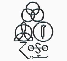 LED ZEPPELIN BAND SYMBOLS (BLUE AND BLACK BEVEL) by Endlessgrief