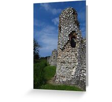 Crumbling Towers, Baconsthorpe Castle Greeting Card