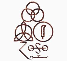 LED ZEPPELIN BAND SYMBOLS (EXTREMELY RUSTY) by Endlessgrief