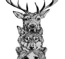 Animal Heads by procraztinator