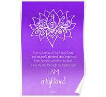 Crown Chakra Affirmation Poster