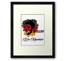 Germany Thomas Muller World Cup 2014 Framed Print