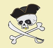 pirate skull by mangulica