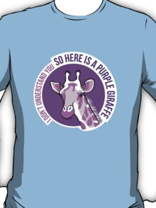 Purple Giraffe T-Shirt