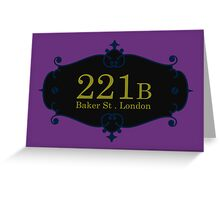 221B Baker St Greeting Card