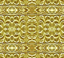Gold Plated Ornament by DFLCreative
