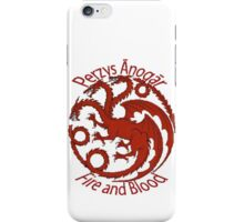 Game of Thrones/A Song of Ice and Fire Targaryen sigil Perzys Ānogār/Fire and blood iPhone Case/Skin
