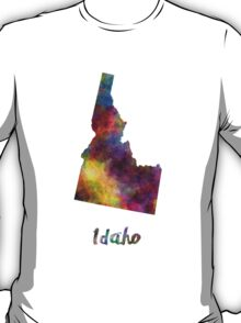 Idaho US state in watercolor T-Shirt