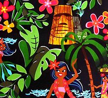Tiki Hula Girl Aloha Phone Case by Godfoot808