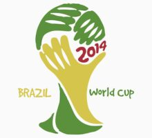FIFA World Cup Logo Brazil 2014 with text T-Shirt