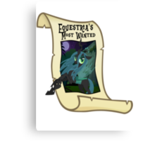 Equestria's Most Wanted - Queen Chrysalis Canvas Print