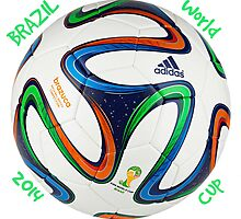2014 FIFA World Cup Brazil match ball text by JoAnnFineArt