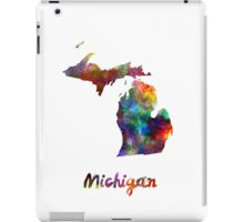 Michigan US state in watercolor iPad Case/Skin
