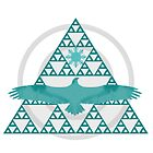 Eagle Rising - Turquoise by UneartheDesigns