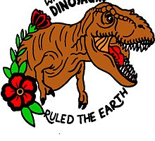 Jurassic Park T-Rex Tattoo Flash by stiffwagonLTD