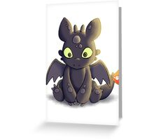 Little Dragon Plush Greeting Card
