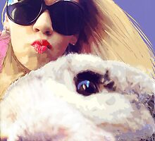 Alice - selfie with the White Rabbit by elee