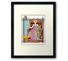 Tarot Justice Framed Print