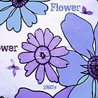 Flower Power Purple Blue by Jenny Davis