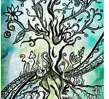 Coloured psychedelic tree (full) by Emilie Desaunay