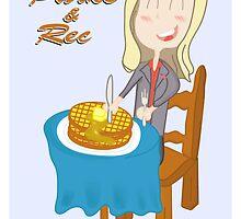 Leslie <3 Waffles by ZaneBerry