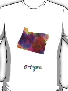 Oregon US state in watercolor T-Shirt