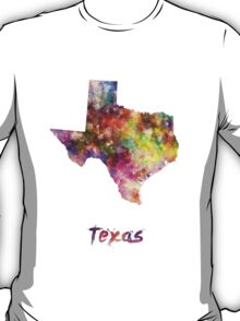 Texas US state in watercolor T-Shirt