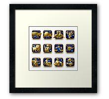Zodiac signs Framed Print