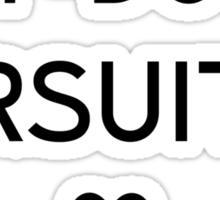 Off-duty fursuiter Sticker