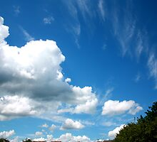 Cirrus and Cumulus Clouds by EmilyWednesday