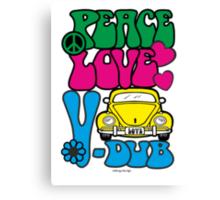 PEACE LOVE V-DUB - BEETLE Canvas Print