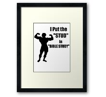I Put the STUD in BIBLE STUDY Framed Print