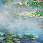 1906 Water Lilies oil on canvas.  Famous vintage fine art by Claude Monet. by naturematters