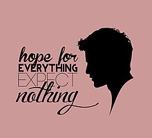 Darren Criss silhouette - quotes [pink] by mirtilla83