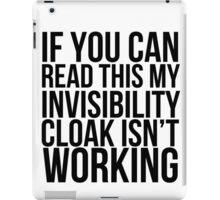 Invisibility Cloak iPad Case/Skin