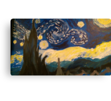 Starry Night Hand Painted Canvas Print
